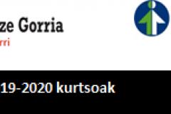 2019-2020an Lanbide eta Hobetuz  programatutako kurtsoak